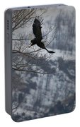 Bald Eagle In Flight-signed-#4014 Portable Battery Charger