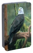 Bald Eagle In Pastel Portable Battery Charger