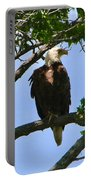 Bald Eagle On Watch Portable Battery Charger