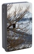 Bald Eagle Perched-signed-#4008 Portable Battery Charger