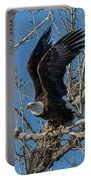 Bald Eagle Pushes Off For Launch Portable Battery Charger