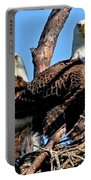 Bald Eagles In Nest Portable Battery Charger