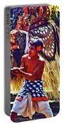 Bali Barong And Kris Dance  - Paint Portable Battery Charger