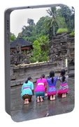 Bali Temple Women Bowing Portable Battery Charger