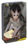 Balinese Baby Monkey Eating Portable Battery Charger