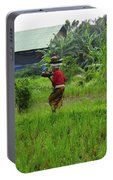 Balinese Lady Carrying Pot Portable Battery Charger