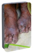 Balinese Lady's Feet Portable Battery Charger