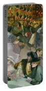 Ball On The 14th July Portable Battery Charger by Theophile Alexandre Steinlen