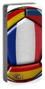 Ball With Flag Of France In The Center Portable Battery Charger