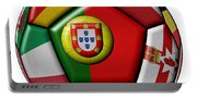 Ball With Flag Of Portugal In The Center Portable Battery Charger