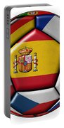 Ball With Flag Of Spain In The Center Portable Battery Charger