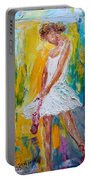 Ballerina Before The Dance Portable Battery Charger