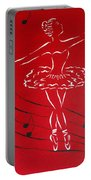 Ballerina In Red Portable Battery Charger