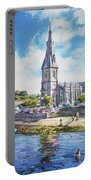 Ballina Cathedral On River Moy Portable Battery Charger
