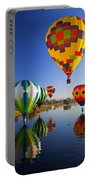 Balloon Reflections Portable Battery Charger by Mike  Dawson