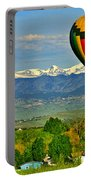 Ballooning Over The Rockies Portable Battery Charger by Scott Mahon