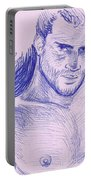 Ballpointpenportrait Portable Battery Charger