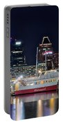 Baltimore Harbor At Night Portable Battery Charger