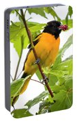 Baltimore Oriole With Raspberry  Portable Battery Charger