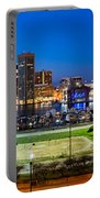 Baltimore Skyline Panorama At Dusk Portable Battery Charger