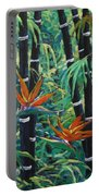Bamboo And Birds Of Paradise Portable Battery Charger