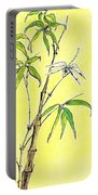 Bamboo And Dragonfly Portable Battery Charger