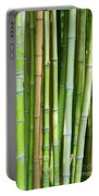 Bamboo Background Portable Battery Charger by Carlos Caetano