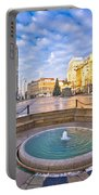 Ban Jelacic Square In Zagreb Advent View Portable Battery Charger