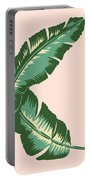 Banana Leaf Square Print Portable Battery Charger by Lauren Amelia Hughes