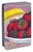 Bananas And Strawberries Portable Battery Charger