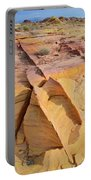 Band Of Gold In Valley Of Fire Portable Battery Charger