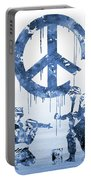 Banksy Soldiers-blue Portable Battery Charger