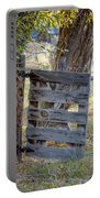 Bannack Gate At Sunrise Portable Battery Charger