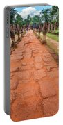 Banteay Srei Red Sandstone Road - Cambodia Portable Battery Charger