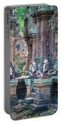 Banteay Srey Temple Pink Monkeys Portable Battery Charger