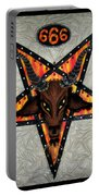 Baphomet - Satanic Pentagram - 666 Portable Battery Charger