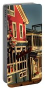 Bar Harbor At Dawn Portable Battery Charger