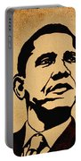 Barack Obama Original Coffee Painting Portable Battery Charger