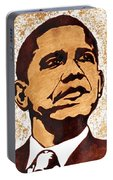Barack Obama Words Of Wisdom Coffee Painting Portable Battery Charger