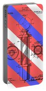 Barber Pole Patent Portable Battery Charger