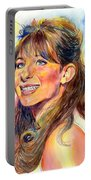 Barbra Streisand Young Portrait Portable Battery Charger