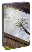 Barcelona Courtyard With Palm Tree Portable Battery Charger