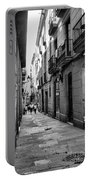 Barcelona Small Streets Bw Portable Battery Charger