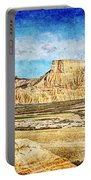 Bardenas Desert Panorama 3 - Vintage Version Portable Battery Charger