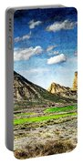 Bardenas Desert Panorama 4 - Vintage Version Portable Battery Charger