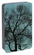 Bare Branches And Storm Clouds Portable Battery Charger