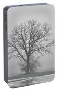 Bare Tree In Fog Portable Battery Charger