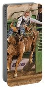 Bareback Riding At The Wickenburg Senior Pro Rodeo Portable Battery Charger