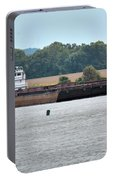 Barge On Tennessee River At Shiloh National Military Park Portable Battery Charger