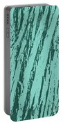 Bark Texture Turquoise Portable Battery Charger